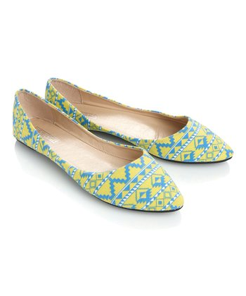Yellow & Blue Inca Flat