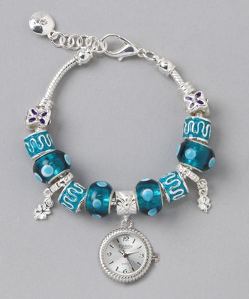 Blue Beaded Watch Bracelet