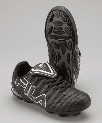 Black Soundwave Rubber Blade Soccer Cleat