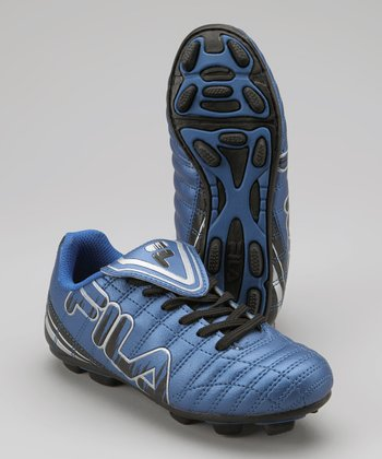 Blue Soundwave Rubber Blade Soccer Cleat