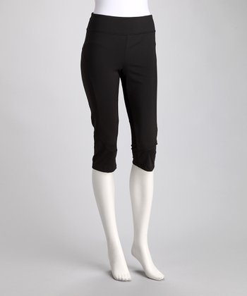 Black Toning Resistance Capri Pants