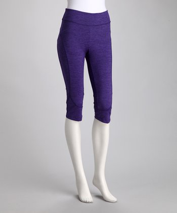 Purple Rain Space Dye Resistance Capri Pants