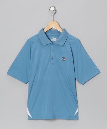 Parisian Blue & White Polo - Boys