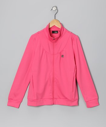 Rose Zip-Up Jacket - Girls