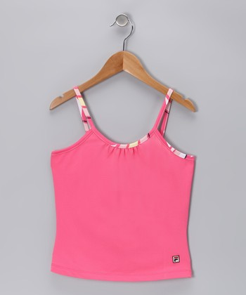 Camellia Rose Tennis Tank - Girls