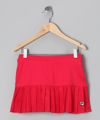 Cherry Bomb Pleated Skort - Toddler & Girls