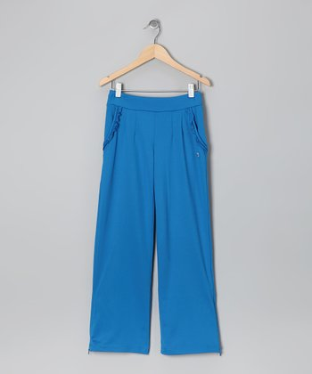 Imperial Blue Ruffle Pants - Toddler & Girls
