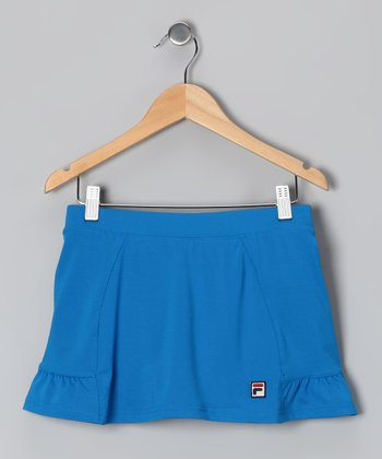 Imperial Blue Peplum Skort - Girls