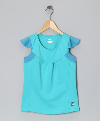 Laguna Baseline Angel-Sleeve Top - Toddler & Girls
