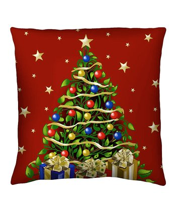 Elegant Tree Silk Pillow
