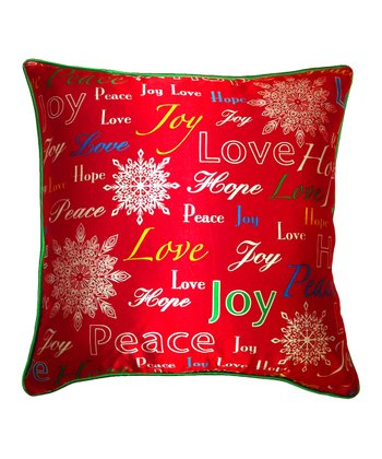 'Joy Hope Love' Silk Pillow