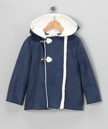 Navy Toggle Coat - Infant