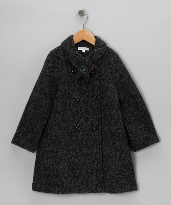 Charcoal Swing Coat - Toddler & Girls