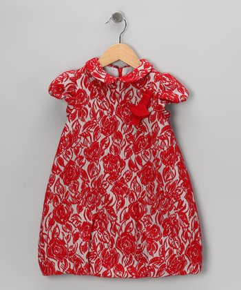 Red Rose Dress - Toddler & Girls