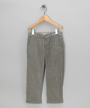 Gray Corduroy Pants - Toddler