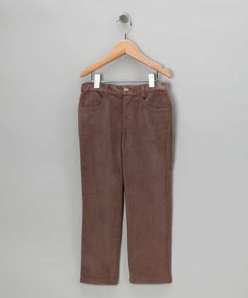 Brown Twill Pants - Toddler & Boys