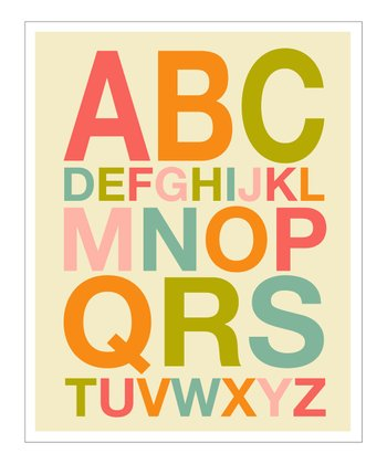 Pink & Orange ABC Helvetica Giclée Print