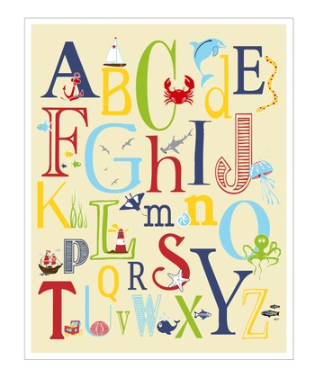 Cream Nautical ABC's Giclée Print