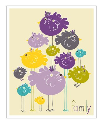 Purple 'Family' Giclée Print