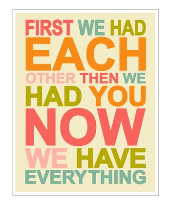 Pink & Orange 'First We Had' Giclée Print