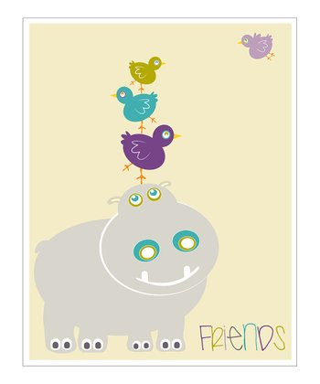 Cream & Purple 'Friends' Giclée Print