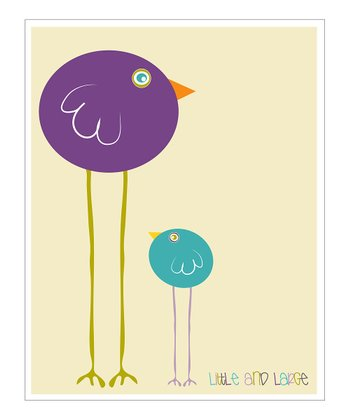 Cream & Purple 'Little and Large' Giclée Print