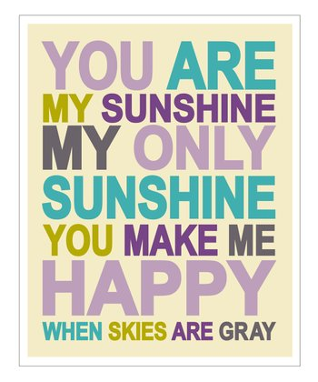 Purple 'You Are My Sunshine' Giclée Print