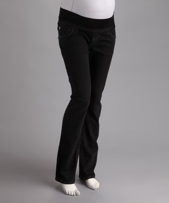Black Over-Belly Maternity Jeans