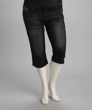 Dark Wash Maternity Capri Jeans
