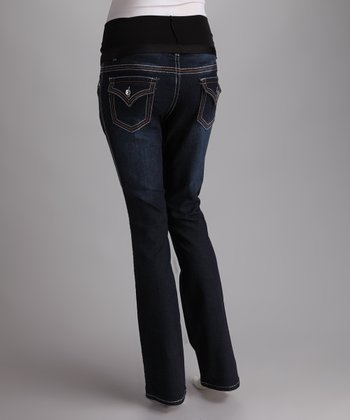 Blue Over-Belly Maternity Jeans