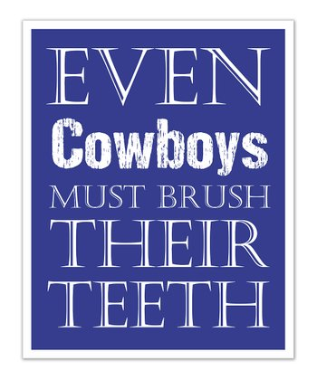 Fit to Print Designs Blue Cowboys 'Teeth' Print