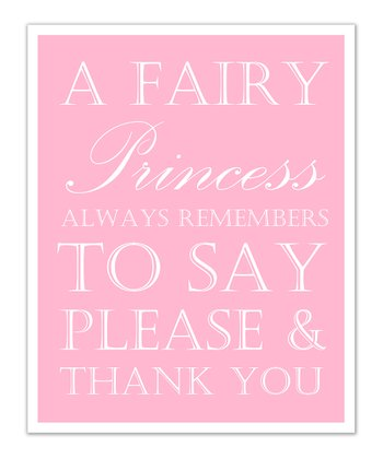 Just Bunch Designs Pink Princess 'Please & Thank You' Print