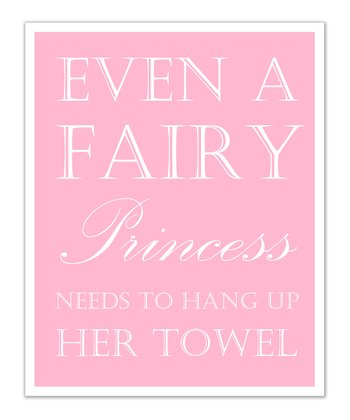 Just Bunch Designs Pink Princess 'Towel' Print
