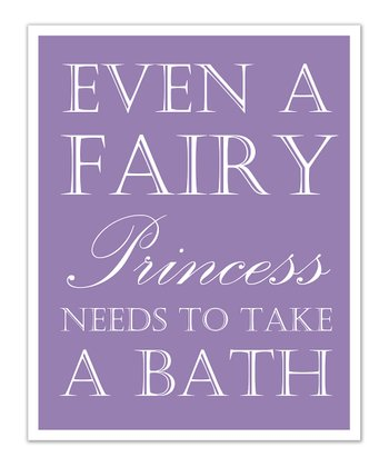 Just Bunch Designs Purple Princess 'Bath' Print