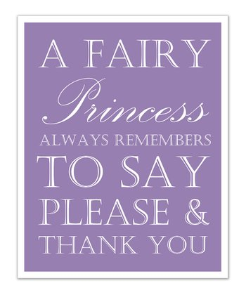 Just Bunch Designs Purple Princess 'Please & Thank You' Print