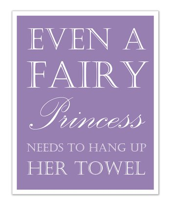 Just Bunch Designs Purple Princess 'Towel' Print