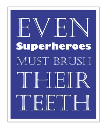 Fit to Print Designs Blue Superhero 'Teeth' Print
