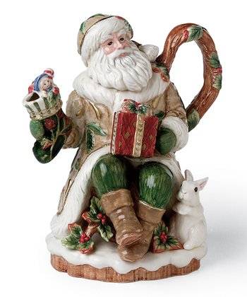 Winter Wonderland Santa Claus Teapot