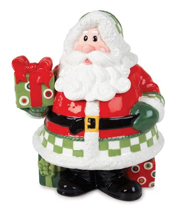 Holiday Cheer Santa Cookie Jar