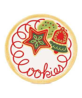 Sugar-Coated Christmas 'Cookies' Plate
