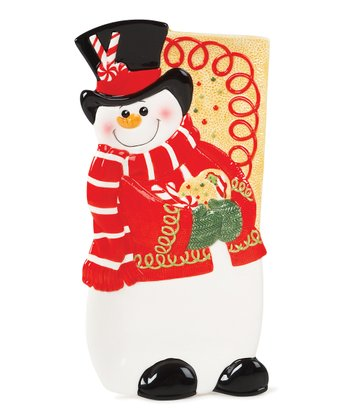 Sugar-Coated Christmas Snowman Tray