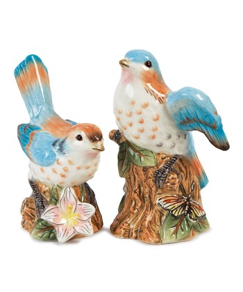 Green & Blue Toulouse Bird Salt & Pepper Shakers