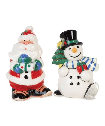 Fitz and Floyd Santa & Snowman Salt & Pepper Shakers