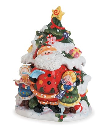 Singing Santa Tree Cookie Jar