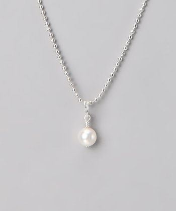 Five Little Birds Jewelry Silver Freshwater Pearl Necklace