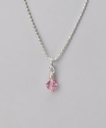 Pink & Silver Necklace Made With SWAROVSKI ELEMENTS
