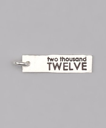 Sterling Silver 'Two Thousand Twelve' Charm