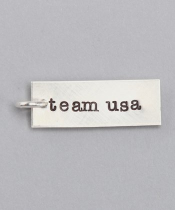 Sterling Silver 'Team USA' Charm