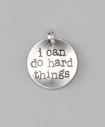 Five Little Birds Jewelry Sterling Silver 'I Can Do Hard Things' Charm