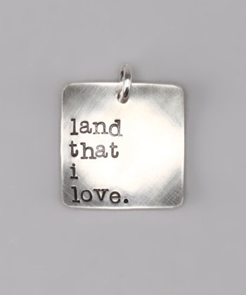 Sterling Silver 'Land That I Love' Deluxe Charm